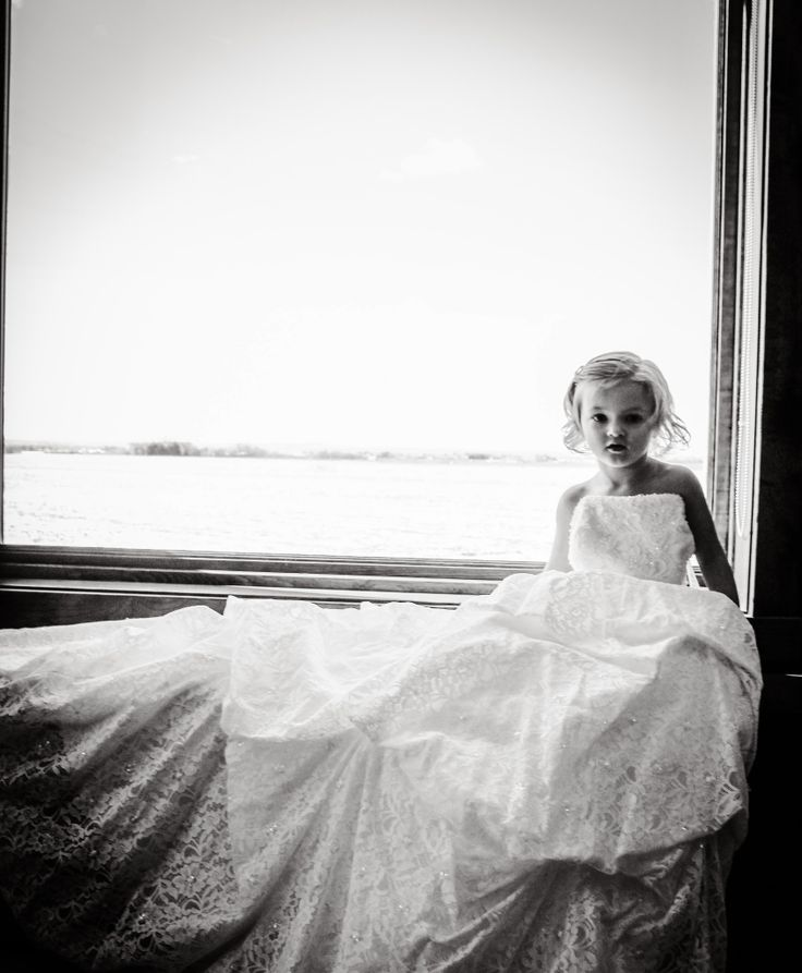 ODunne Photography took this picture of my 3 year old daughter Sadie in my wedding gown.