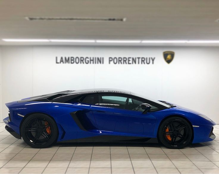 Lamborghini Aventador S Painted In Blue Nethuns Photo Taken By:  @lamborghini_porrentruy On Instagram