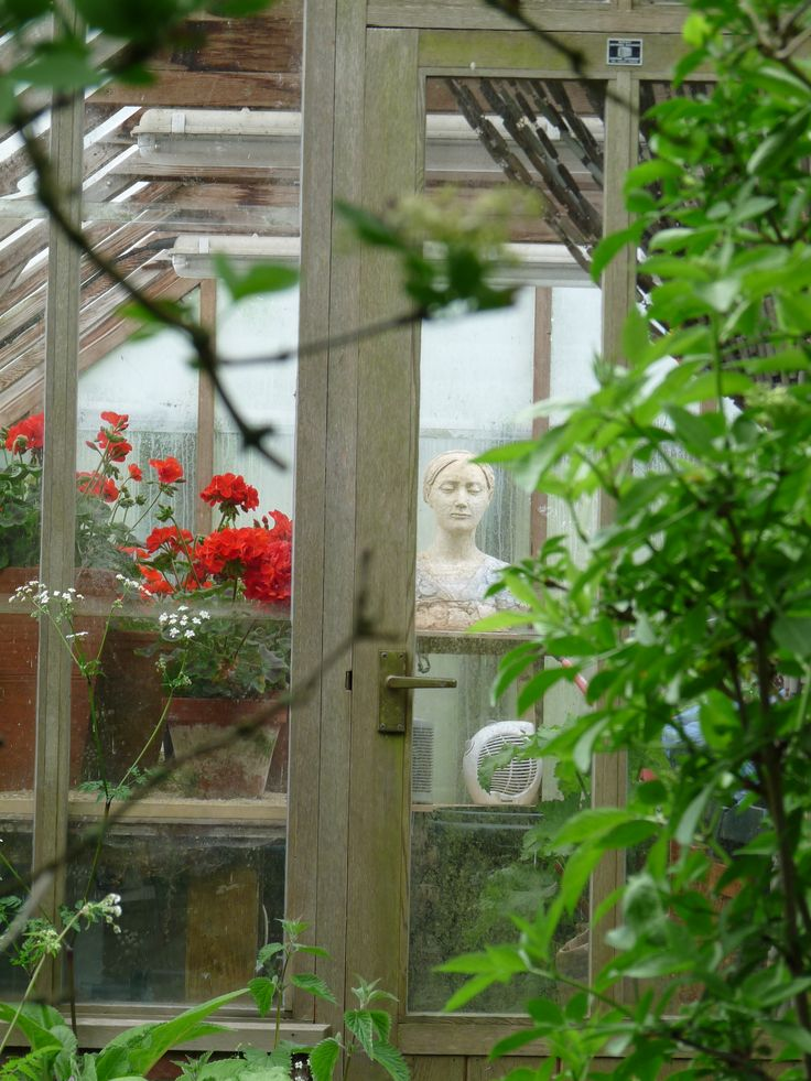 Charleston Farmhouse ~  Greenhouse with bust......♔..