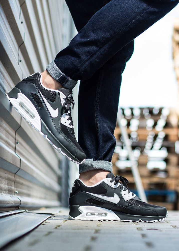 Shop Nike Air Max 90 Essential BlackMetallic Gold 537384