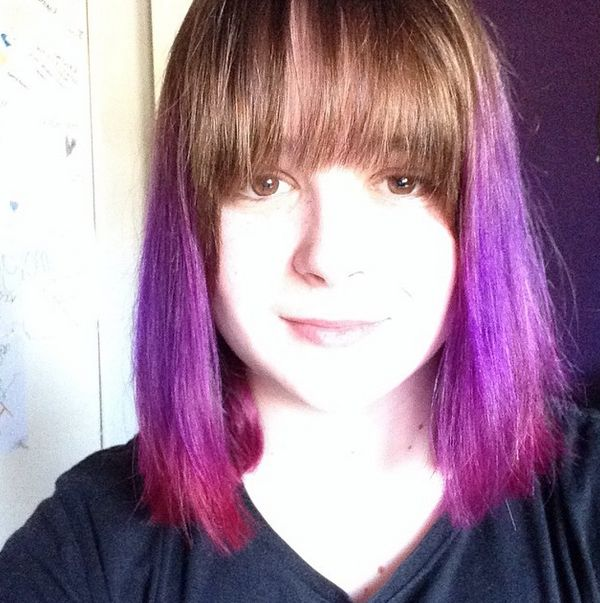 purple and pink hair :D purple people eater,