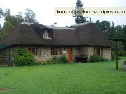 The little house we stayed in – Poplar Cottage at Wyford Farm in Van Reenen