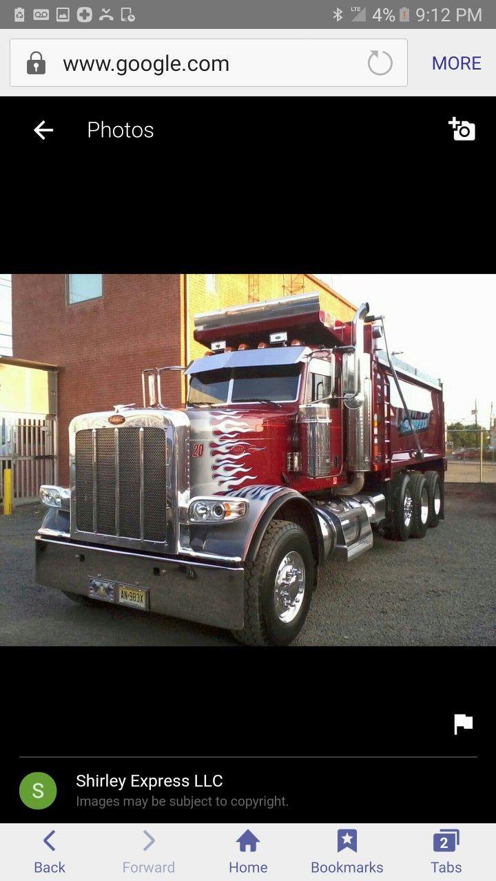 Big rig trucks dump trucks peterbilt 389 rigs