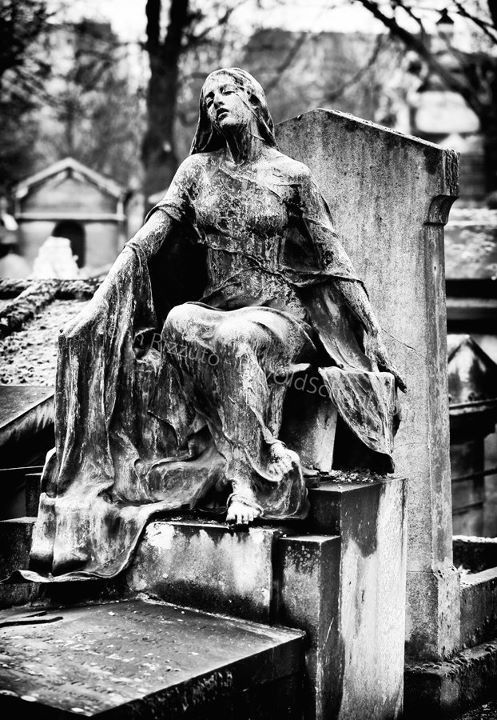 Lovely, but creepy, cemetery statue