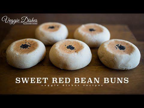 自家製あんこで作る黒ごまあんぱんの作り方:How to make Sweet Red Bean Buns | Veggie Dishes by Peaceful Cuisine - YouTube