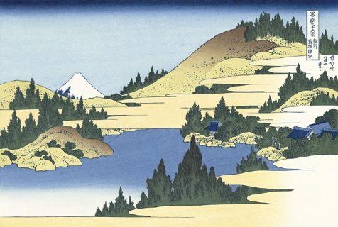 葛飾北斎富嶽三十六景「相州箱根湖水」