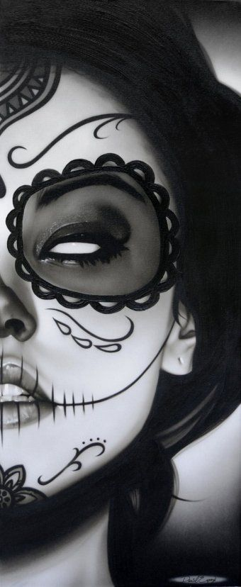 Oh my god i love dia de los muerto makeup
