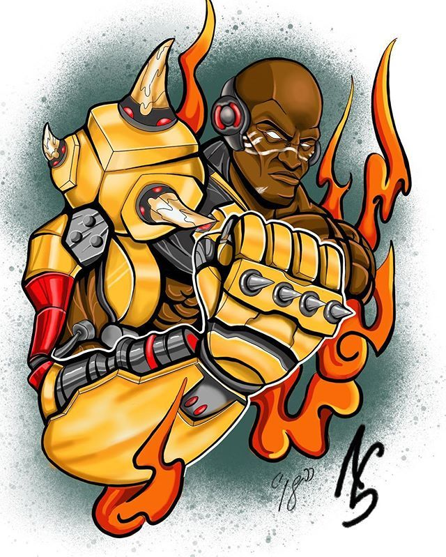 Doomfist all done!!! What do you guys think! #overwatch #doomfist #color #tattooartwork #flash #procreate #blizzard #videogames #ipadproart #ipad #art #artwork #neotraditional #inspired #ps4 #nerd