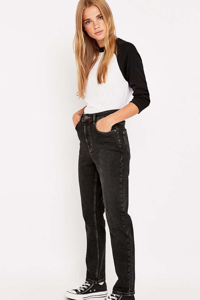BDG Black Girlfriend Jeans - Urban Outfitters