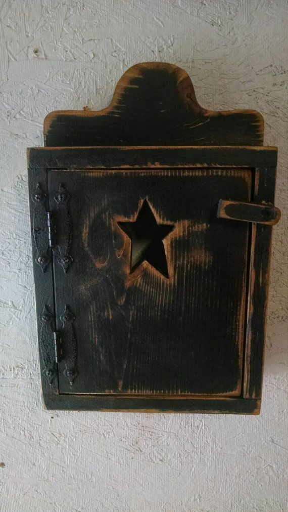 Handmade Primitive Wood Thermostat Cover  by BlackSquirrelPrims