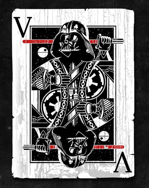 Darth Vader playing card #StarWars