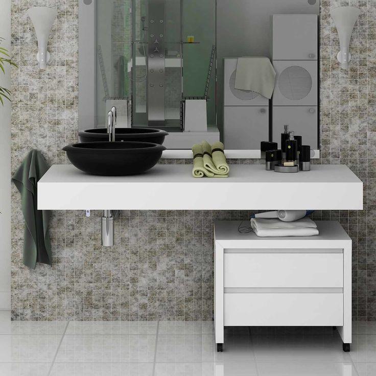 para banheiros pequenos e at mesmo para uma decorao minimalista as bancadas combinadas de nichos