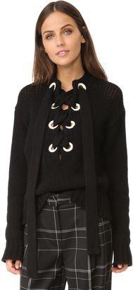 Shop Now - >  https://api.shopstyle.com/action/apiVisitRetailer?id=619387510&pid=uid6996-25233114-59 Joseph Lace Up Cashmere Sweater  ...