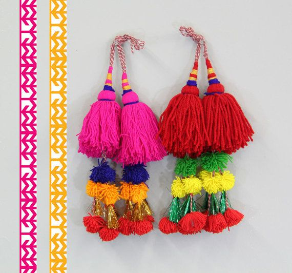 Put a Pom Pom On It. Hot Pink or Bright Red by WomanShopsWorld $12
