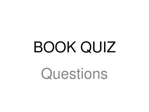 World Book Day Quiz and Answers for KS3