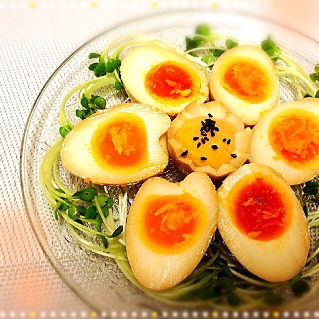 桜央里's dish photo Tomokoちゃんのお料理 ニンニクぷんぷん味玉 | http://snapdish.co #SnapDish #レシピ #おつまみ #味付き卵