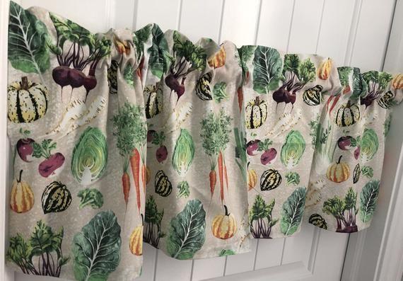 Fresh Garden Vegetables Kitchen Produce Curtain Valance Kitchen Lighting Fixtures Kitchen Lighting Printed Shower Curtain