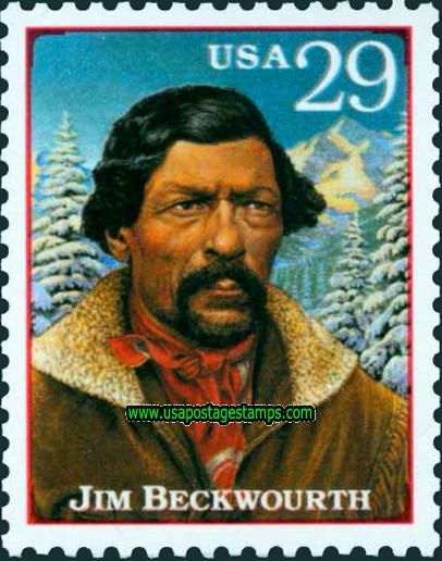 james beckwourth stamp | 29c Jim Beckwourth. Legends of the West Issue 1994