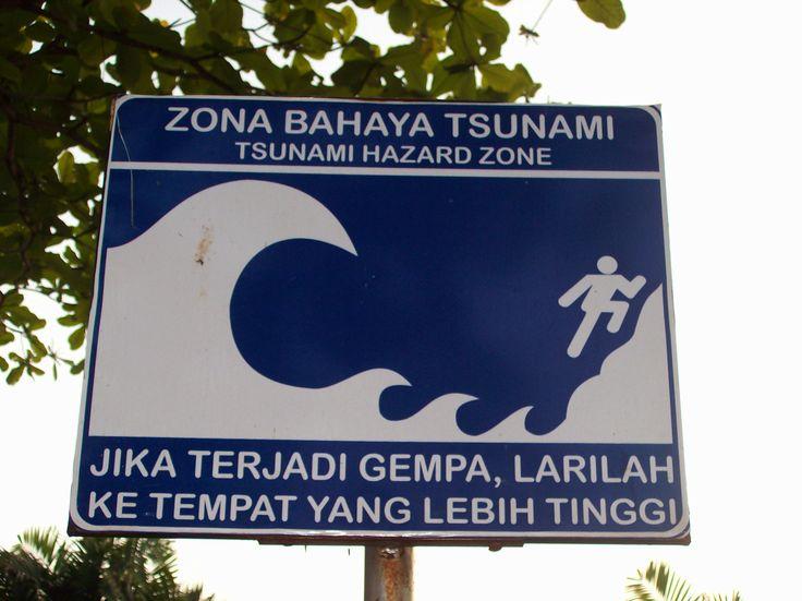 Tsunami Hazard Zone, Sukabumi Beach Indonesia