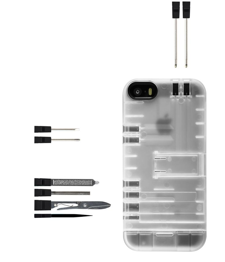 IN1Multi-Tool Utility Case houses built-in tools aimed to help you with everyday tasks. http://design-milk.com/in1case-multi-tool-utility-case-iphone-55s/
