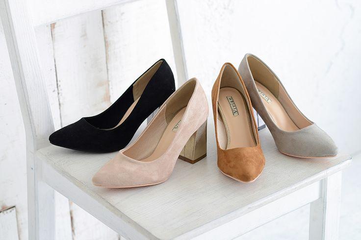 TS4290 メタリックチャンキーヒールパンプス パンプス・サンダル・ブーツなど靴の通販の【Vivian ONLINE STORE】‐公式通販