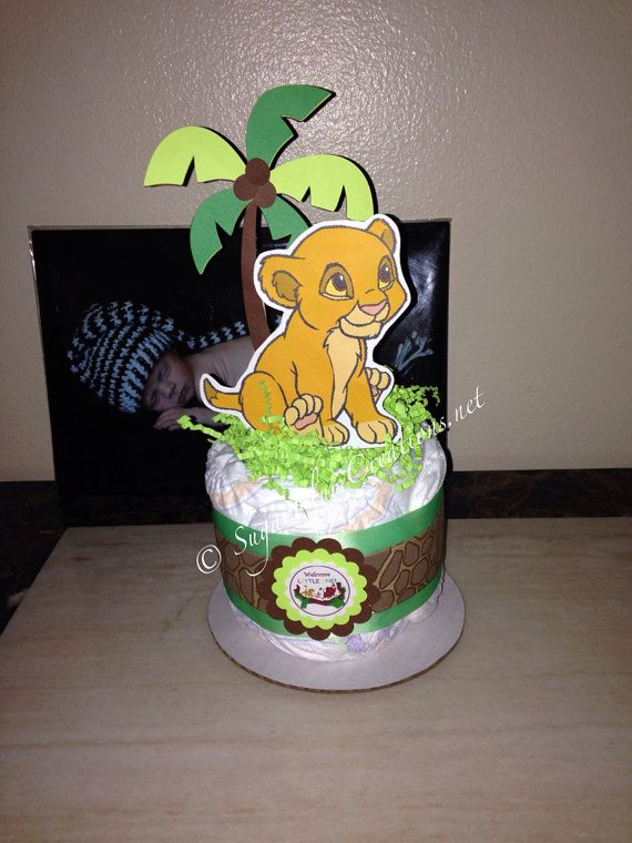 baby simba diaper cake mini lion king baby shower lion