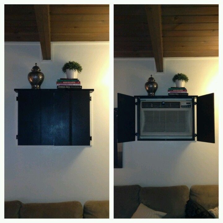 cover ugly wall ac unit - Google Search