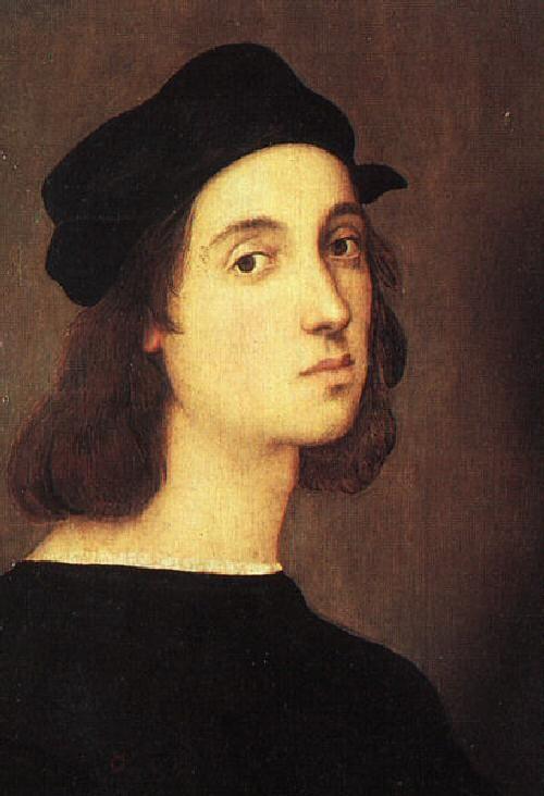 RAFAEL SANZIO  -  ( 1483 - 1520 ) -auto-retrato  #art #rafael #sanzio