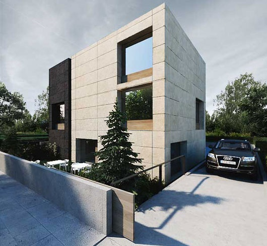 Minimalist office exterior building fantastic office for Contemporary office building design