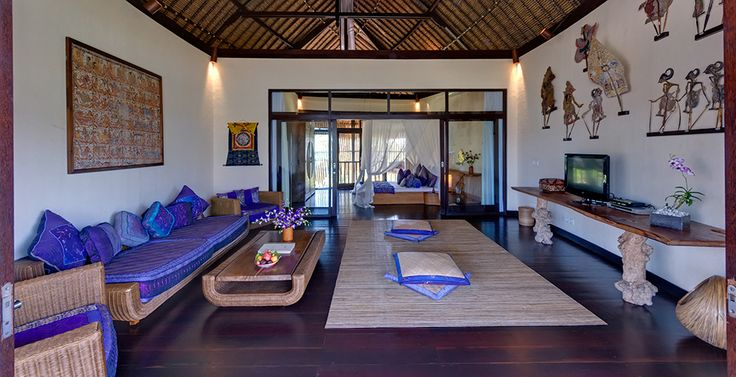 Villa Taman Ahimsa, Bali. Surrender your senses and succumb to the seductive charms of Taman Ahimsa, a seven-bedroom oceanfront villa on Bali's south-west coast, where a beguiling mix of nature and organic design blend together in perfect synergy.