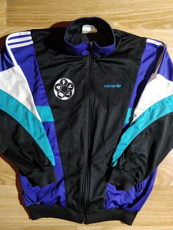 Top Tracksuit Originals Vintage 90's Aarg Mens Adidas Jacket 435qAjRL