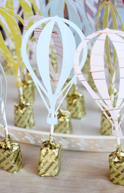 hot air balloon ideas baby shower | Up, Up & Away! A Hot Air Balloon Shower - Pepper Design Blog