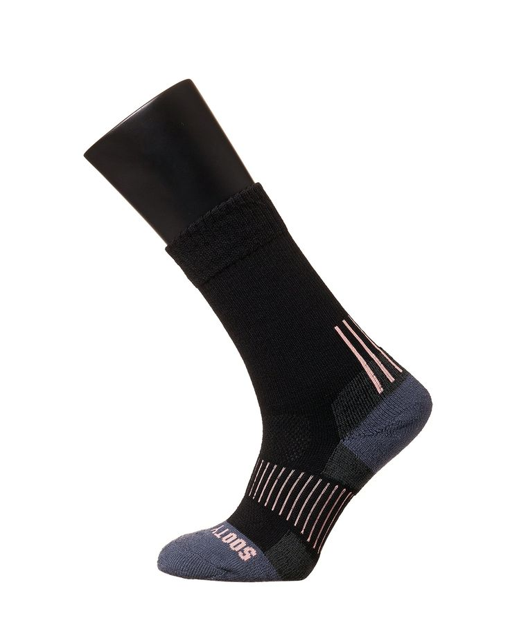 Sooty Smith Mercerized Merino Wool Crew Hiking Outdoor Climbing Boots Socks Women (SS = Size 9 (US Women Shoes 5.5-8 = Men 4.5-7), Black 1pair SS). Sooty Smith professional socks - chosen by national cycling team (2014 Inches Asian Games, 2016 Rio Olympics). Mercerized Merino Wool - even softer than common merino wool with better shine + mesh structure. Integrated elastane for comfort and tight fit, extended durability and achilles tendon support, Toe Heel Feet Cushion with Y-heel Stitch....