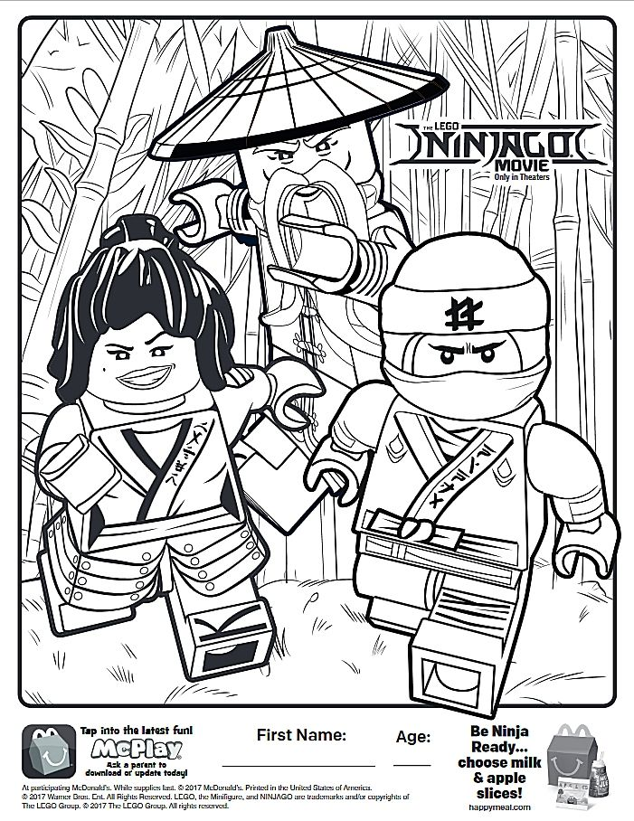 Here is the Happy Meal Lego Ninjago Coloring Page! Click the picture ...
