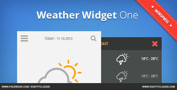Weather Widget One
