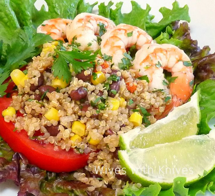 southwestern quinoa salad with pickled shrimp from Wives with Knives