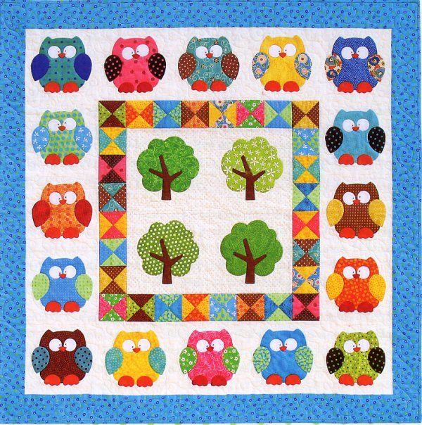 Free Quilt Pattern For Owls : 132 best images about No Sew Appliques on Pinterest Free pattern, Applique designs and Hedgehogs