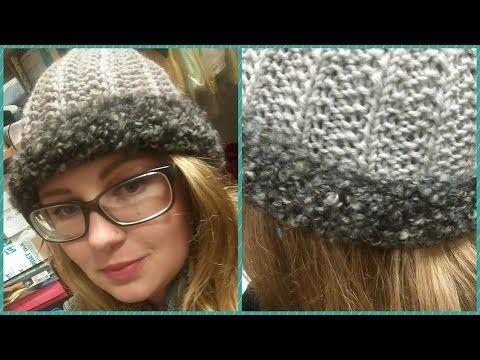 Cappellino ai ferri - tutorial cuffia finta maglia inglese   punto mussolini - YouTube