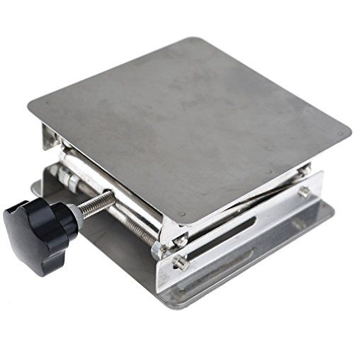 4'' Stainless Steel Lab Stand Table Scissor Lift laboratory