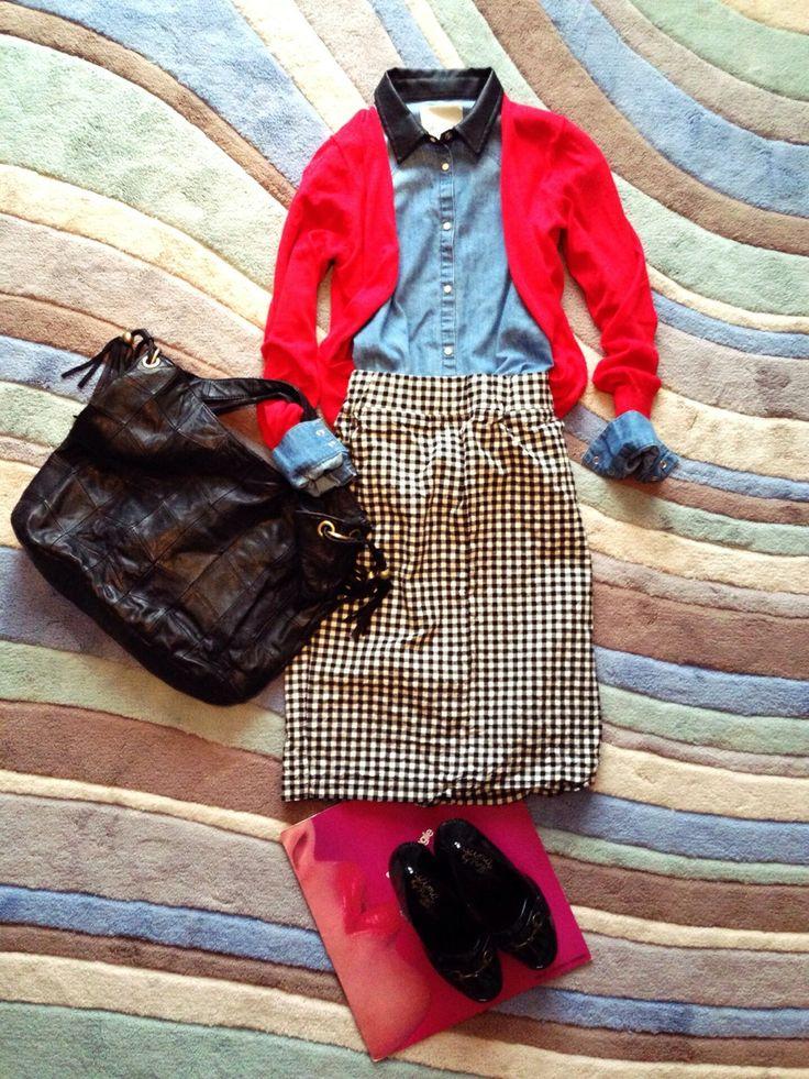 Ciscoさんのスカート「DURAS ギンガムチェックペンシルスカート」を使ったコーディネート