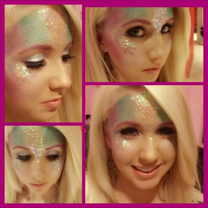 Mermaid makeup done at Dolce Salon and Spa