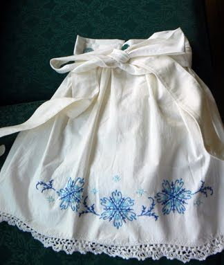 Make aprons out of Grandma's pillowcases :)