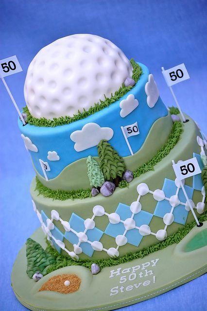 Golf cake- Kyes BDay :)