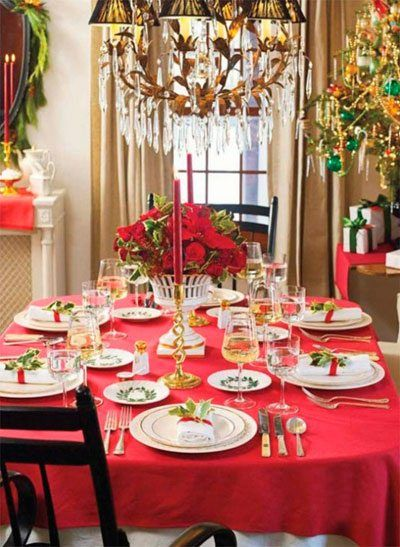 fotos e ideas para decorar la mesa en navidad