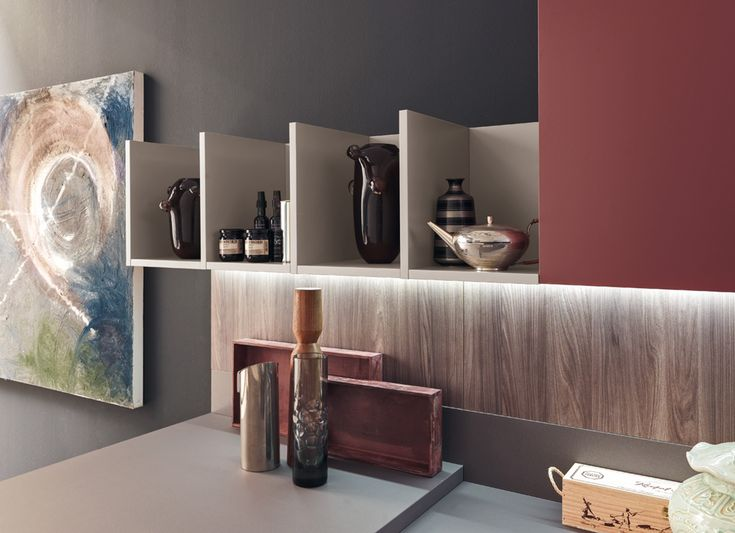 #Red, #Kitchen, #modern #Eurocasa #Chinese #Asian #inspiration, #cupboard