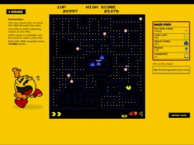 World's Biggest PAC-MAN: Game on video by Soap Creative. Video explaining the World's Biggest PAC-MAN site/game we did. This was hidden on Youtube so uploading here for prosperity.