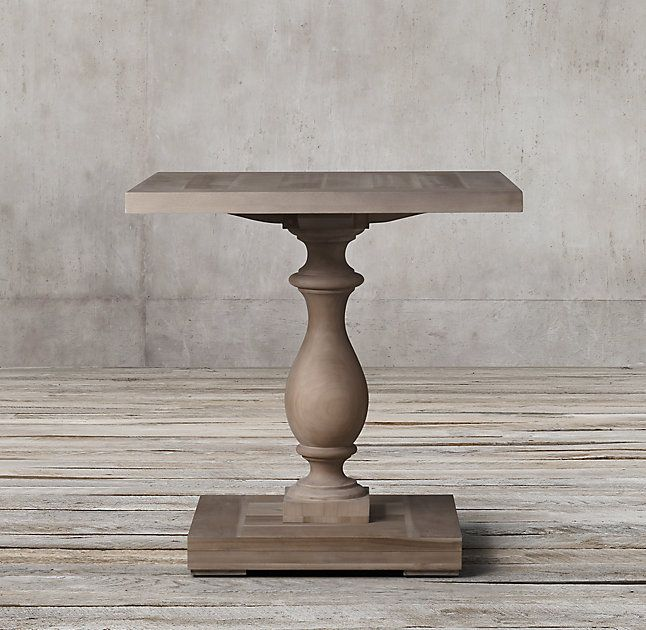 RH's 17th C. Monastery Side Table:Balustrade tables like these were once part of life in medieval, 17th-century monasteries. Today, our reproduction is true to the original's hand-hewn style and trestle design.