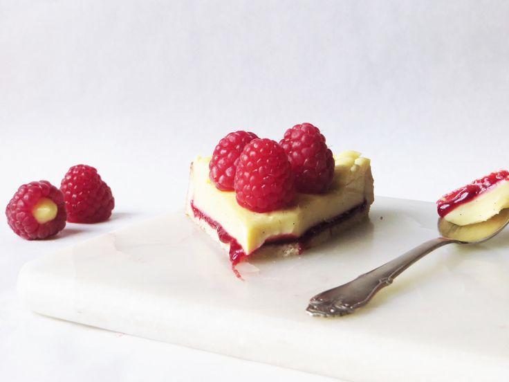 Hindbærtærte med hvid chokolade