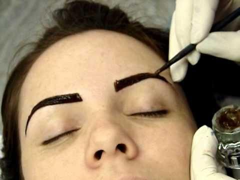 Tintura de Henna Lú Brandão em sobrancelha - YouTube