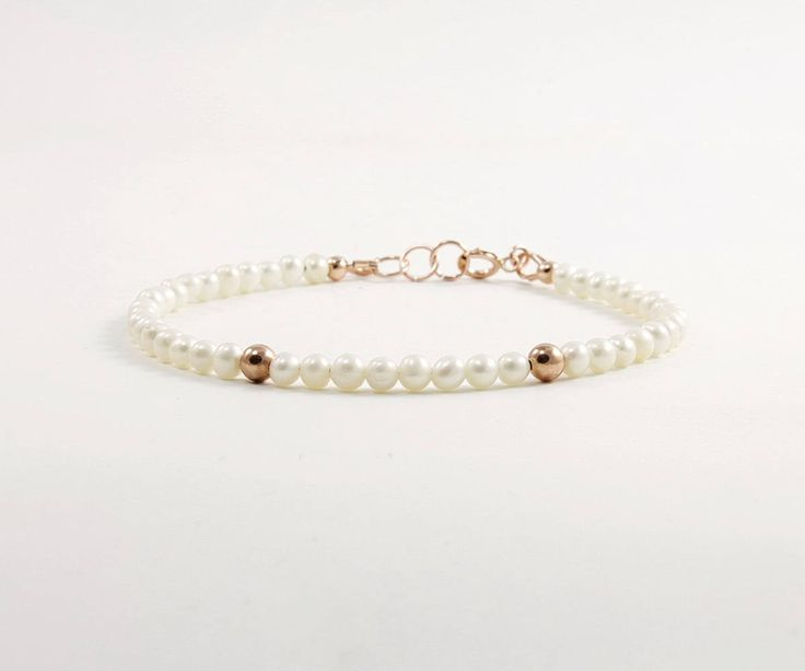 Excited to share the latest addition to my #etsy shop: A dainty and delicate layering bracelet with white freshwater pearls & rose gold filled.   http://etsy.me/2jQbbz7 #jewellery #bracelet #white #rosegold #women  #minimalist #christmas #delicatepearl